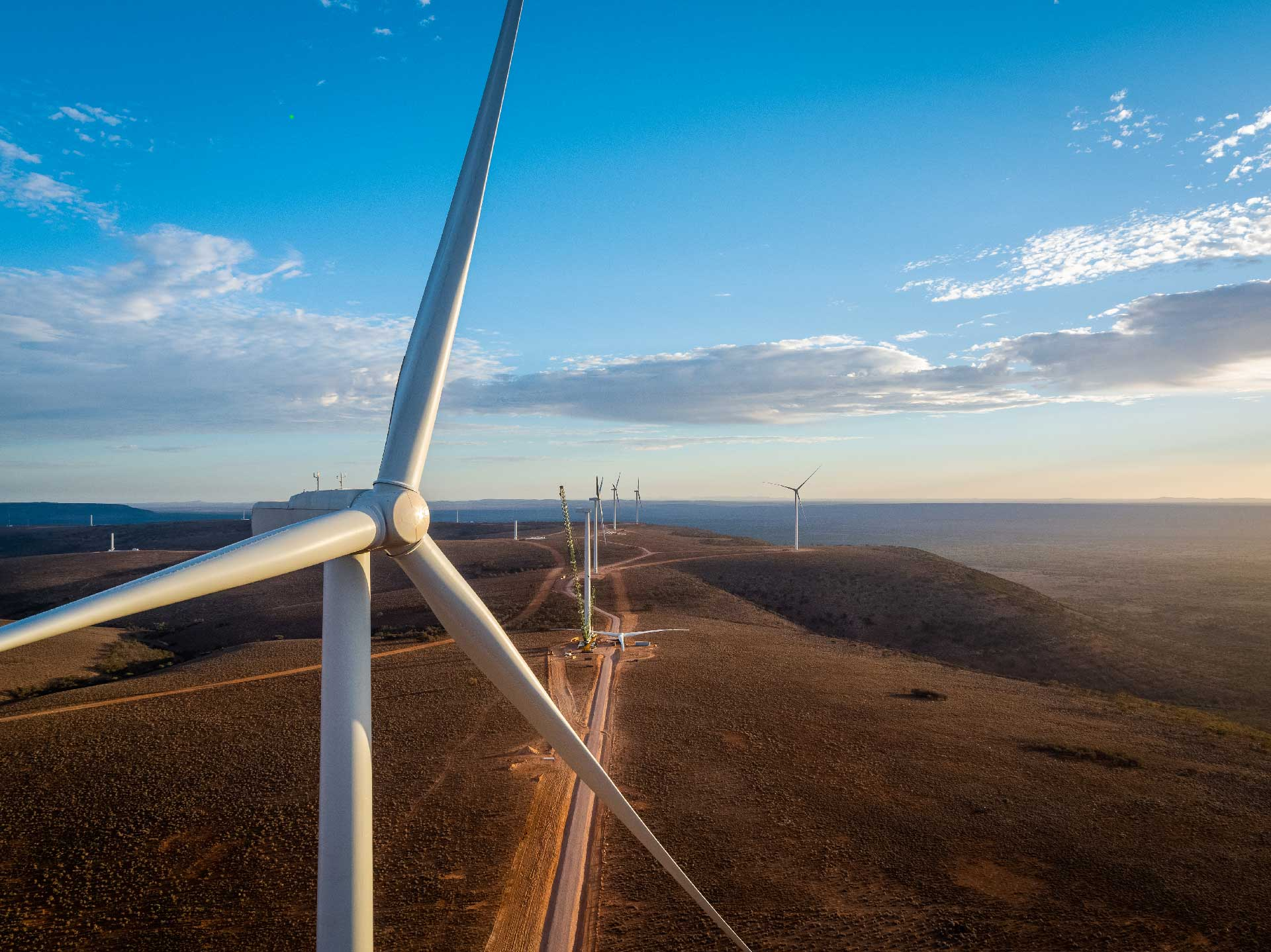 First wind turbine generators in operation